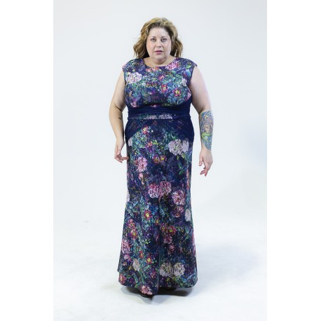 IGIGI FLORAL LACE EVENING GOWN SIZE 20 NEW SAMPLE