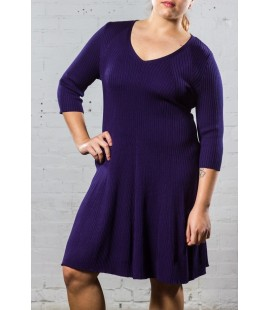 LANE BRYANT PURPLE SKATER DRESS SIZE 14/16 NEW