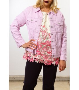 LEVI'S PINK DENIM JACKET SIZE 14/16 NEW
