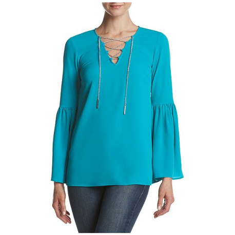 MICHAEL KORS BELL SLEEVE CHAIN TOP SIZE 2X NEW