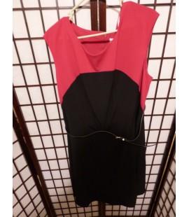 Calvin Klein Classic Pink & Black Dress Size 18