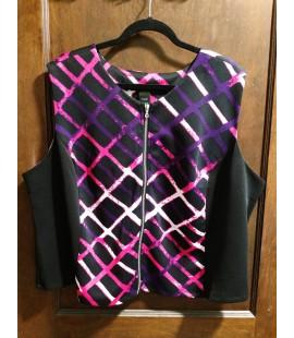 Ashley Stewart Zip-Up Crop Vest Top Size 26/28