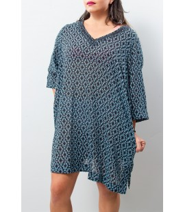 LAND'SEND PRINTED COVER UP 2X