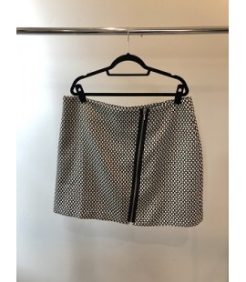 Be Geo Print Zip Mini Skirt Size 16