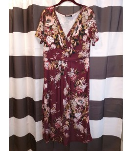 Lady Vintage Ada Dress Winter Bloom Size 18