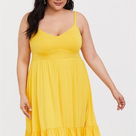 Torrid Yellow Skater Dress Size 2 (18/20)