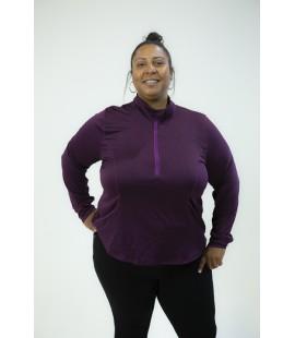 Zelos Burgundy Active Zip front Long Sleeve Shirt Size 2X